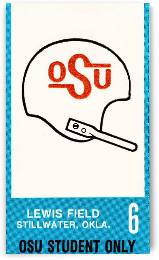 OSU Student Football Ticket Art by Row One Brand