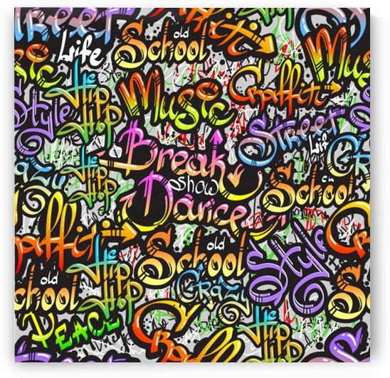 graffiti word seamless pattern by Shamudy