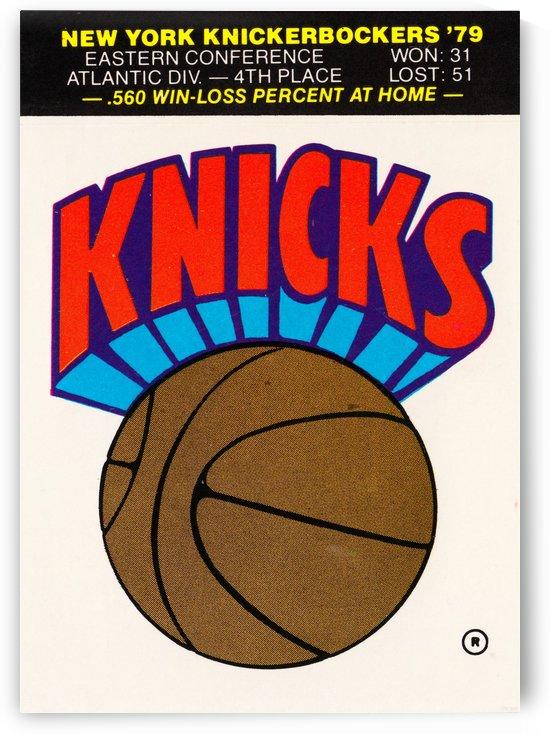 1980 New York Knicks Fleer Decal Art by Row One Brand