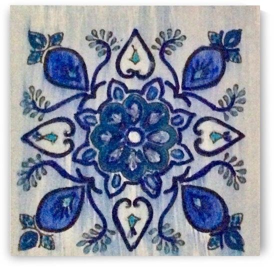 Portuguese Azulejos 5 by Zaramar Paintings