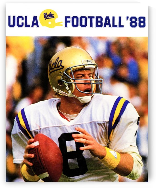 retro college sports posters ucla bruins football by Row One Brand