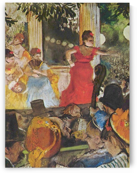 In concert cafe (Les Ambassadeurs) by Degas by Degas