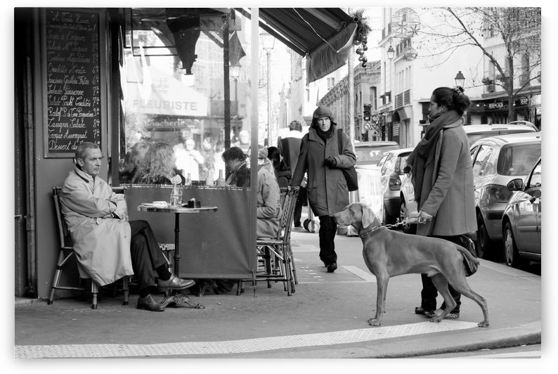 Street Life in Le Marais by Bill Osuch