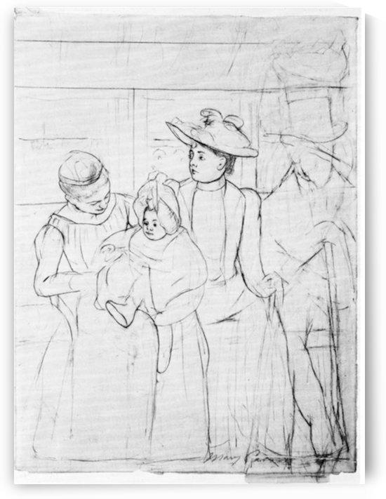 In the bus by Cassatt by Cassatt