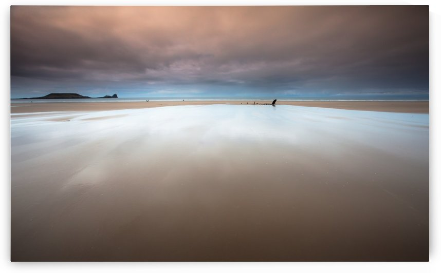 Rhossili bay Gower by Leighton Collins