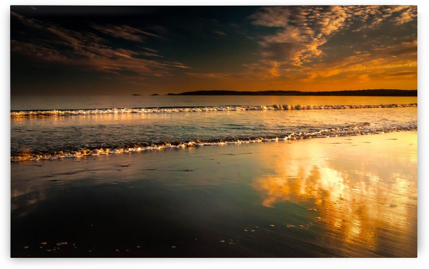 Mumbles Swansea bay sunset by Leighton Collins