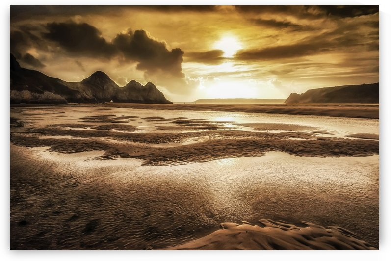 Three Cliffs Bay Gower by Leighton Collins