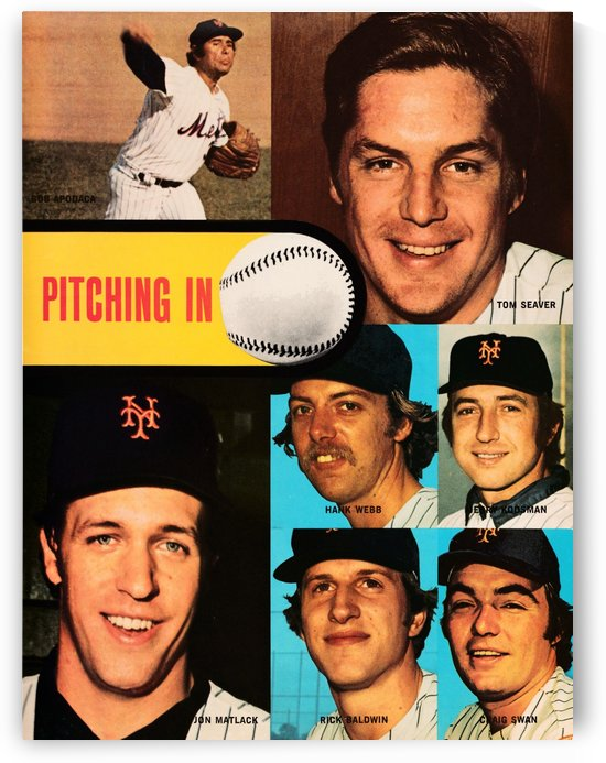 vintage mets poster tom seaver pitcher by Row One Brand