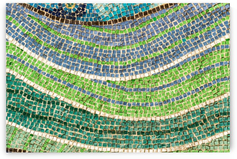 Tessellated Abstracts and Impressions - Free Form Meadows and Flowerbeds in Green and Blue by GeorgiaM