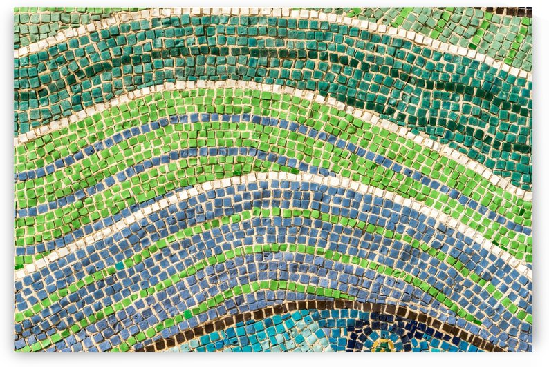 Tessellated Abstracts and Impressions - Free Form Flowerbeds and Meadows in Blue and Green by GeorgiaM