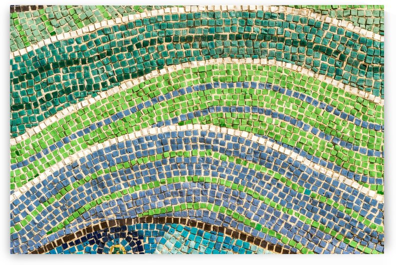 Tessellated Abstracts and Impressions - Free Form Flowerbeds and Meadows in Green and Blue by GeorgiaM