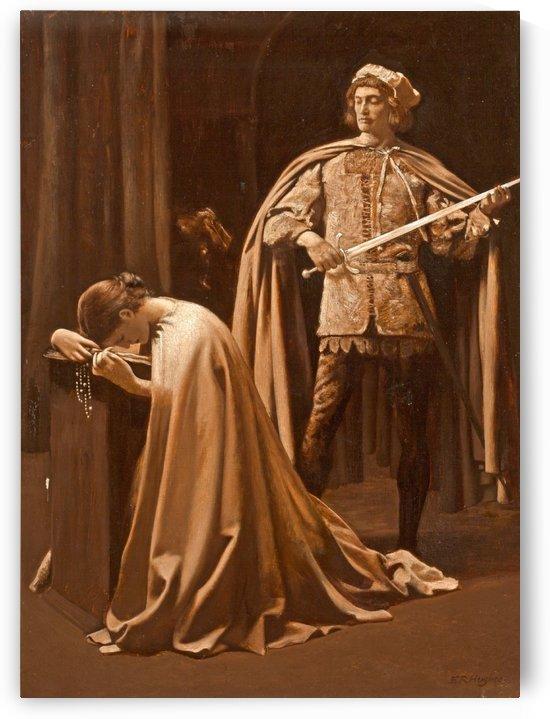 Praying by Edward Robert Hughes
