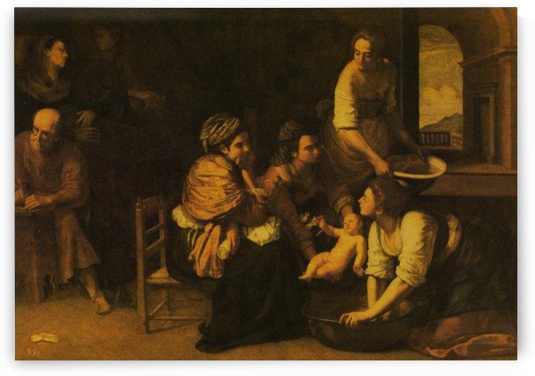 The Birth of the Baptist by Artemisia Gentileschi