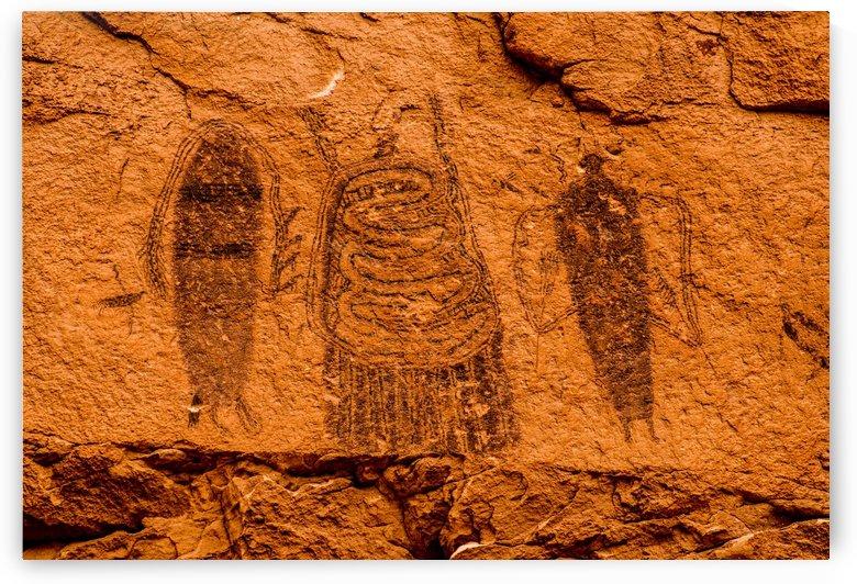 Intestine Man Pictograph - Moab - Utah by Gary Whitton