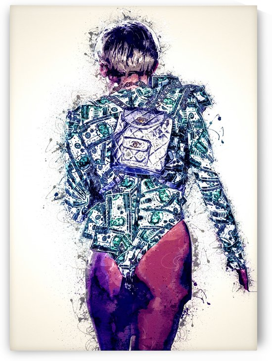 Miley Cyrus in Art  31 by RANGGA OZI
