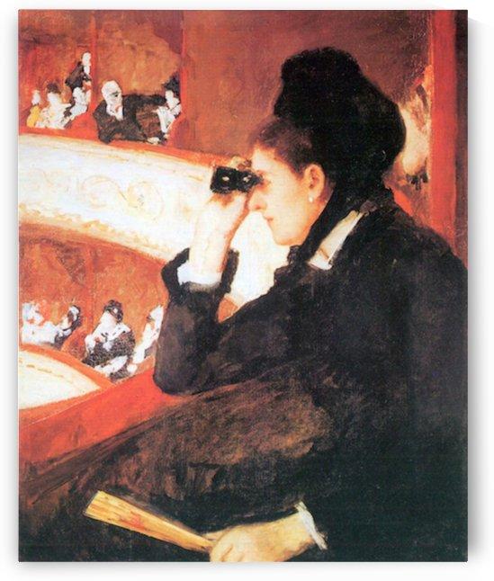 In the opera by Cassatt by Cassatt