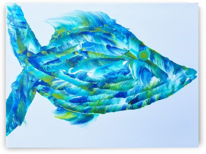 Trigger Fish by Coastal Colors Art Co
