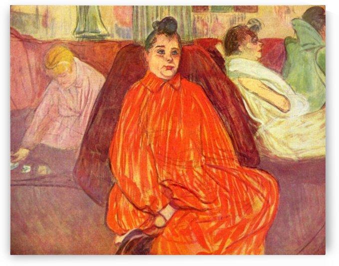 In the Salon Divas by Toulouse-Lautrec by Toulouse-Lautrec