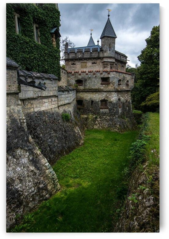 Lichtenstein Castle Moat - Baden Wurttemberg - Germany by Gary Whitton