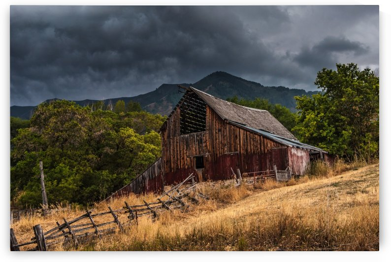 Mendon Utah Barn in Storm by Gary Whitton