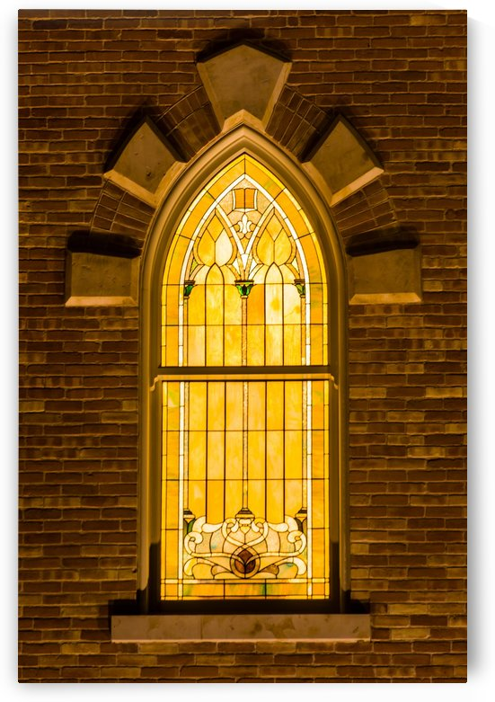 Provo City Center Temple Stainglass Window - Utah by Gary Whitton