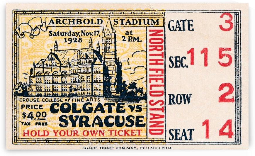 1928 Colgate vs. Syracuse by Row One Brand