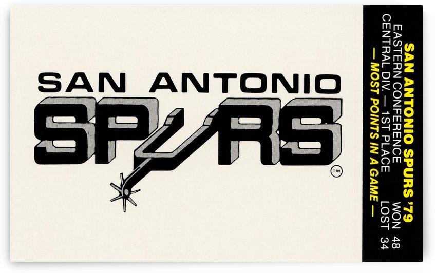 1979 San Antonio Spurs Art by Row One Brand