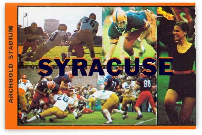 Vintage Syracuse Ticket Art by Row One Brand