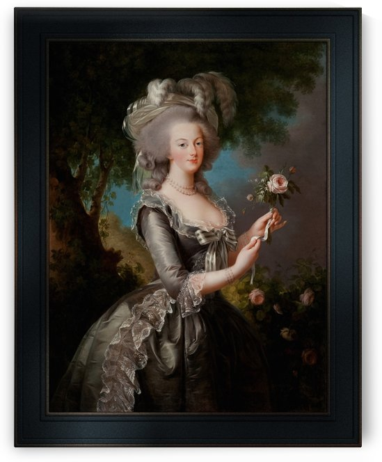Marie Antoinette with a Rose by Elisabeth-Louise Vigee Le Brun by xzendor7