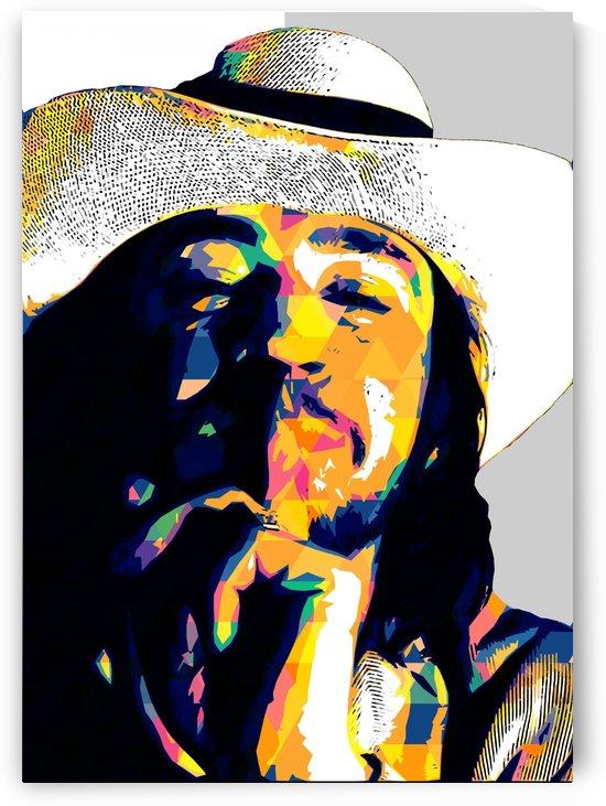 Stevie Ray Vaughan Pop Art 28 by RANGGA OZI