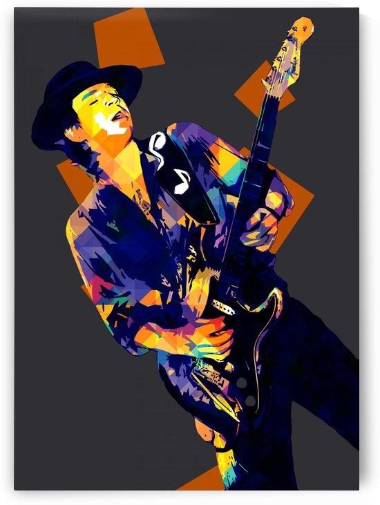 Stevie Ray Vaughan Pop Art 26 by RANGGA OZI