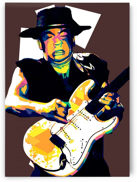 Stevie Ray Vaughan Pop Art 25 by RANGGA OZI