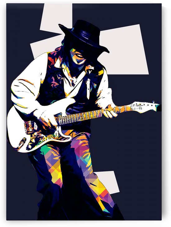 Stevie Ray Vaughan Pop Art 3 by RANGGA OZI
