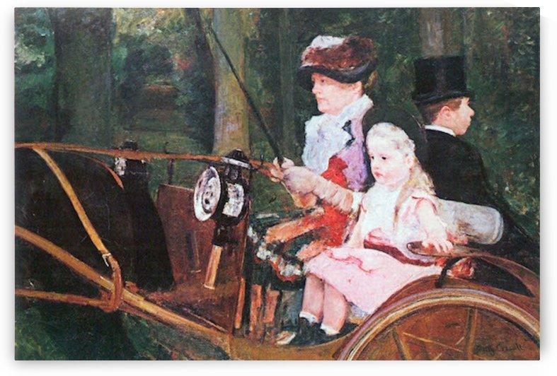 In the wagon by Cassatt by Cassatt