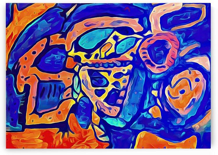 Blue Orange Clash by Aurelia Schanzenbacher Sisters Fine Arts