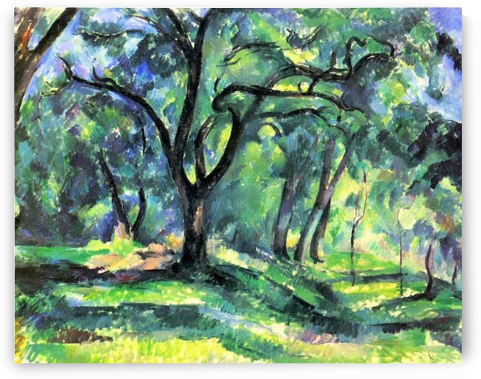 In the Woods by Cezanne by Cezanne