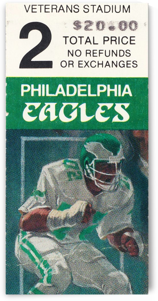 1987 Philadelphia Eagles Ticket Art by Row One Brand