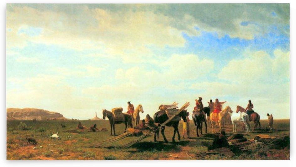 Indians near Fort Laramie by Bierstadt by Bierstadt