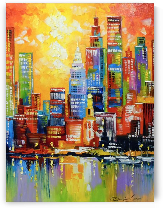 Bright new York city by Olha Darchuk