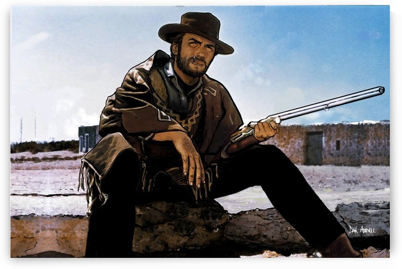 Clint Eastwood as The Man With No Name by Dan  Avenell