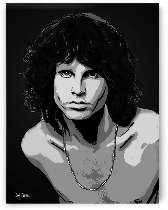 Jim Morrison of The Doors  by Dan  Avenell