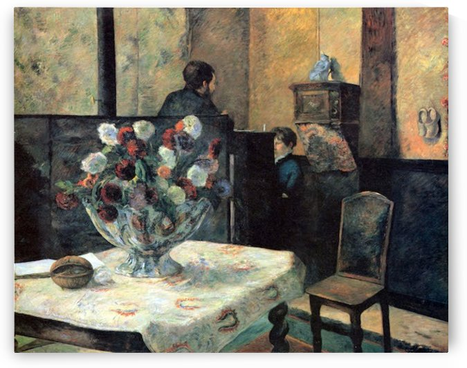 Interior of Painter of Rue Carcel by Gauguin by Gauguin