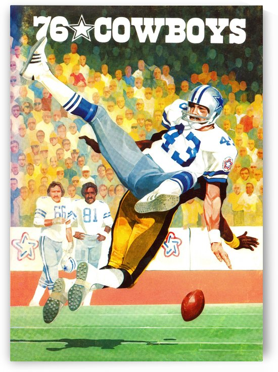 1976 Dallas Cowboys Art by Row One Brand