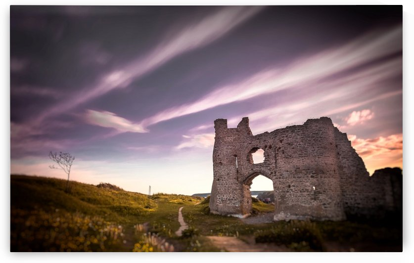 Pennard castle Gower Swansea by Leighton Collins