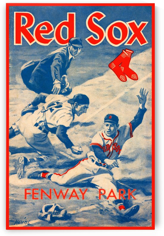 Vintage Red Sox Poster Baseball Gift by Row One Brand
