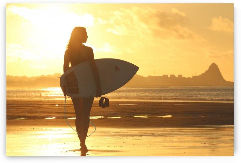 Sunset Surfer Girl by vintagesupreme