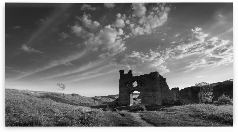 Pennard castle Gower by Leighton Collins