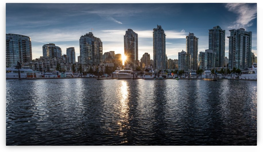 Vancouver skyline sunset  by Leighton Collins