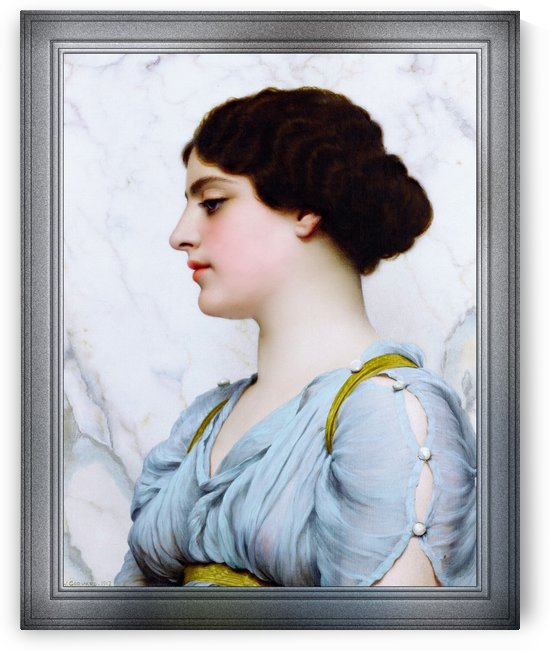 A Roman Beauty by John William Godward Classical Art Old Masters Reproduction by xzendor7