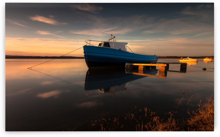 Loughor estuary boats Wales by Leighton Collins